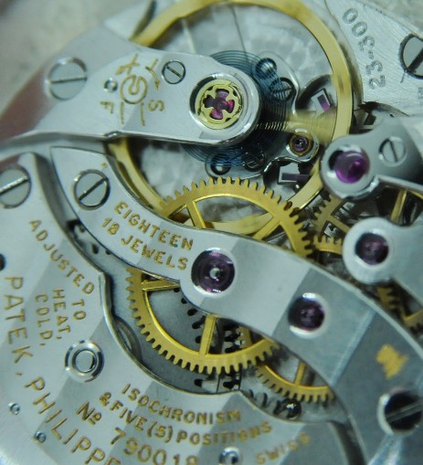 Patek Philippe Calatrava 3484 movement close-up