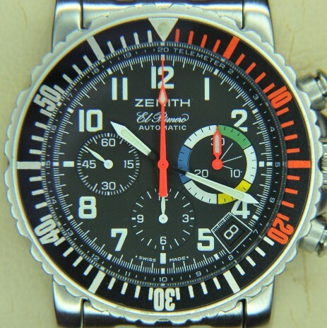 A vintage Zenith chronograph using the El Primero movement
